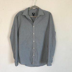 Plain Button Down Shirt - Gray